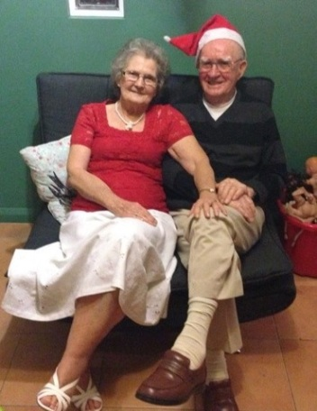 Vic 92, and wife Stella in happy retirement at Port MacQuarie