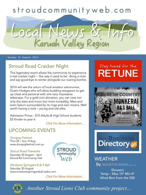 News 25 Aug