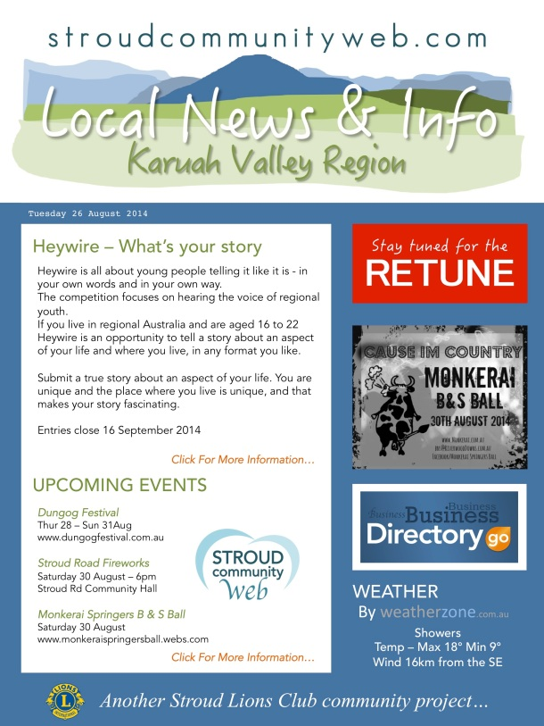 News 26 Aug