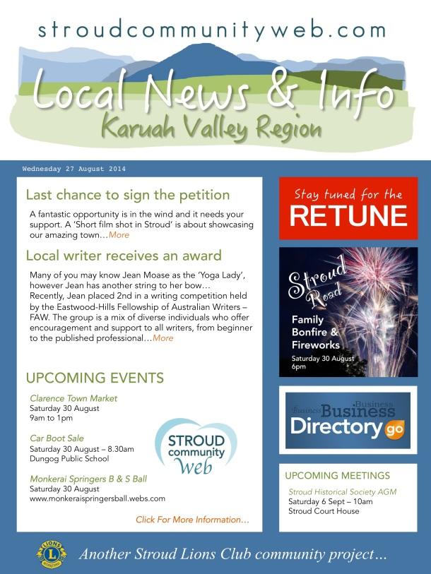 News 27 Aug