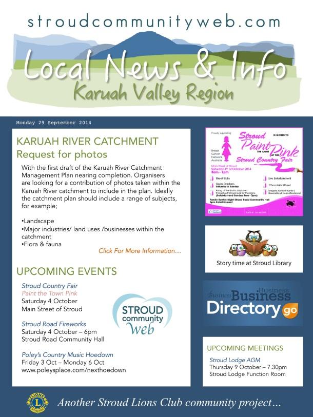News 29 Sept