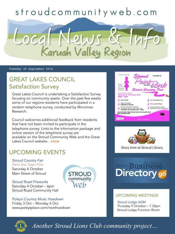 News 30 Sept