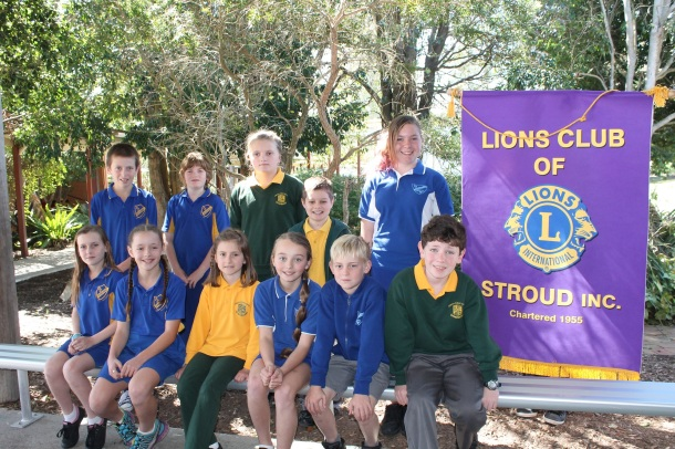 Lion club public speaking finalists with banner (email)