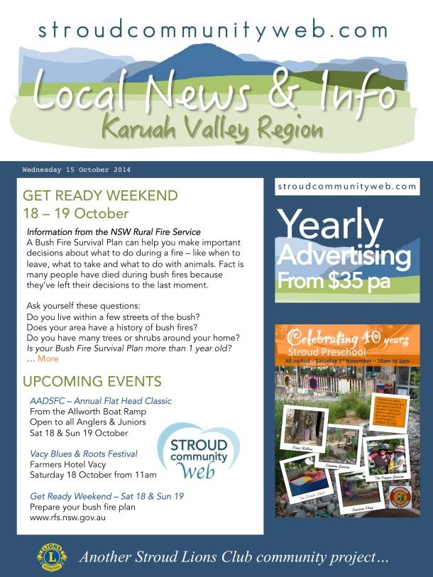 News 15 Oct