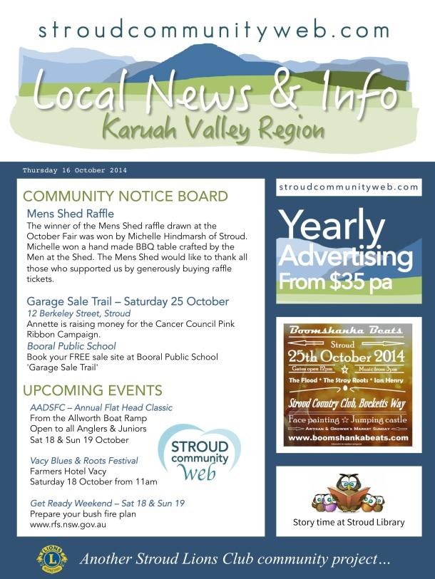 News 16 Oct