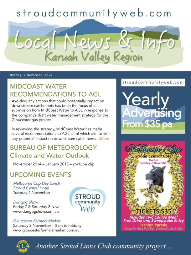 News 3 Nov