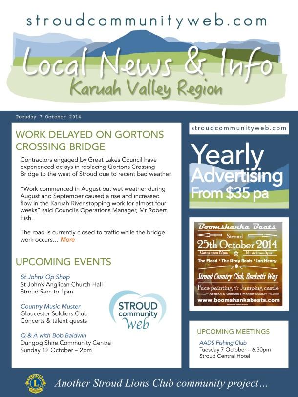 News 7 Oct