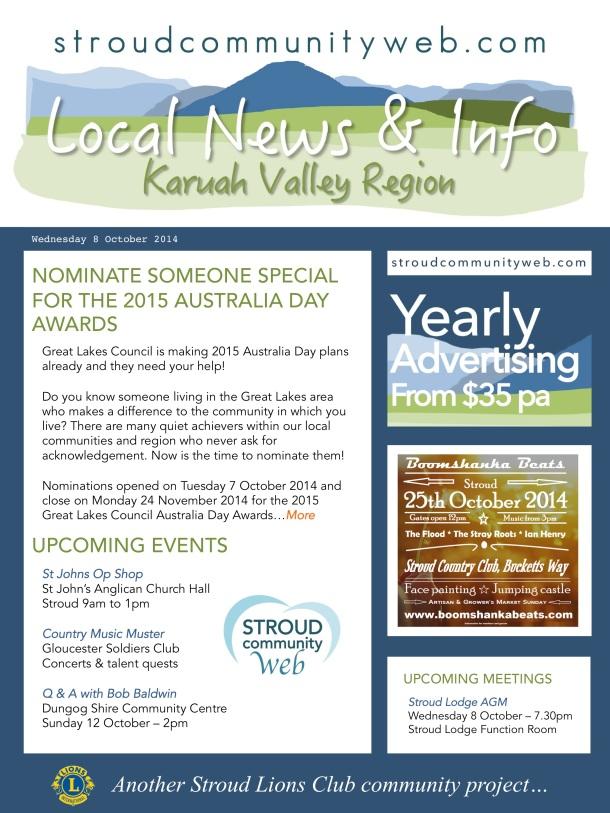 News 8 Oct