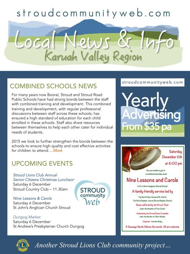 News 3 Dec