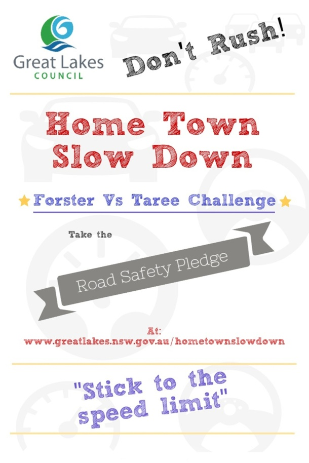 home town slow down poster