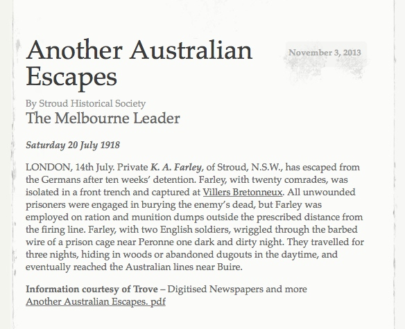 Another Australian Escapes
