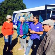 Rodney Gorton with a tour group from Salamander bay