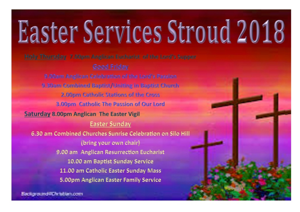 Easter Services Poster 2018